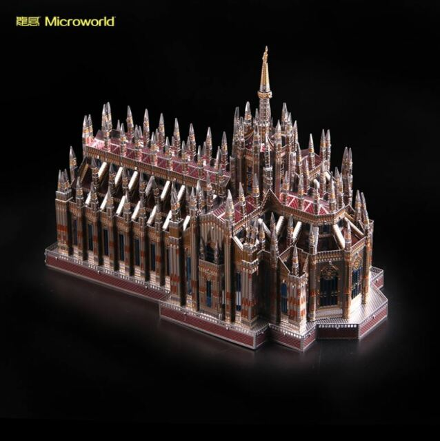 MicroWorld 3d Metal Nano Puzzle Milan Cathedral Duomo Di MILANO Build Model