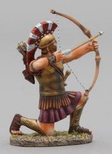 Thomas Gunn Antik GREEKS & Persians spa011 Spartan Bogenschütze kniend brennen
