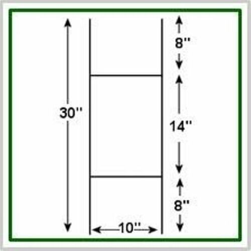 5 Pack CORRUGATED H-FRAME WIRE STAKES SIGNS NOT INCLUDED