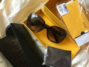 92f54ce26c Image is loading NWT-FENDI-Sunglasses-FS-5227-Brown-Made-in-