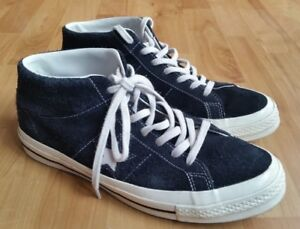 9fd712194775 Converse Chuck Taylor 70 s Ox Black Suede High Tops Trainers UK 8 ...