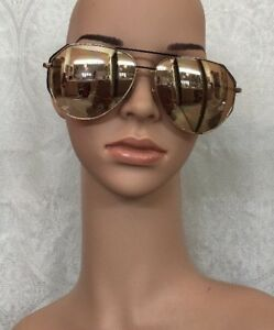a07d950dd8 Image is loading Linda-Farrow-Sunglasses-Rose-Gold-Mirrored-Aviator-Cat-