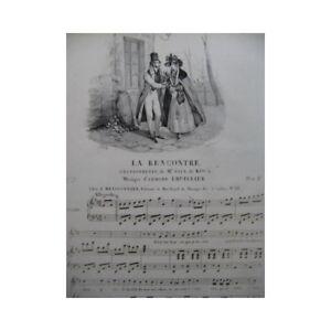 LHUILLIER-Edmond-La-Rencontre-Chant-Piano-ca1830-partition-sheet-music-score