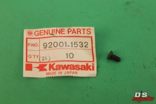 Kawasaki NOS NEW 92001-1532 Black Screw 4x10 EN EX KL KX KZ KDX VN ZN 1981-90
