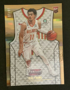2018-19-Panini-Threads-Trae-Young-Gold-10-10