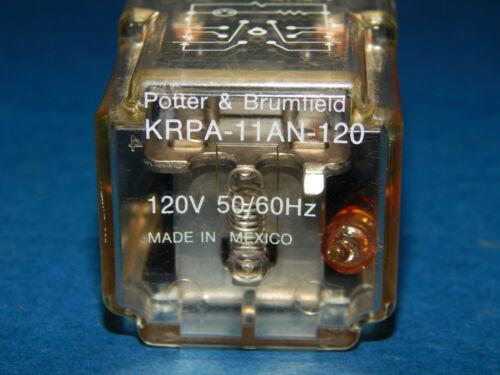 Lot of 2 Potter /& Brumfield KRPA-11AN-120 Relay 120Volt 50//60Hz 8Pin