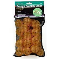 2 Dz Dozen Practice Golf Balls Orange 24 W Mesh Bag Safety Wiffle Plastic