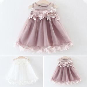 Kinder Sommer Blumen Kleid Kleinkind Baby Madchen Armellos Party Festlich Ebay