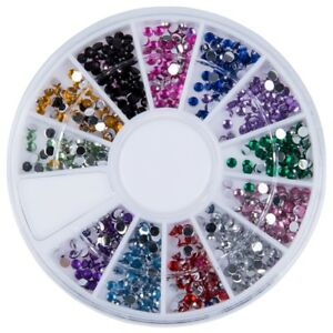 1-5Mm-1800-Nail-Art-Strass-Glitter-Tip-Mix-Gemme-M8X2