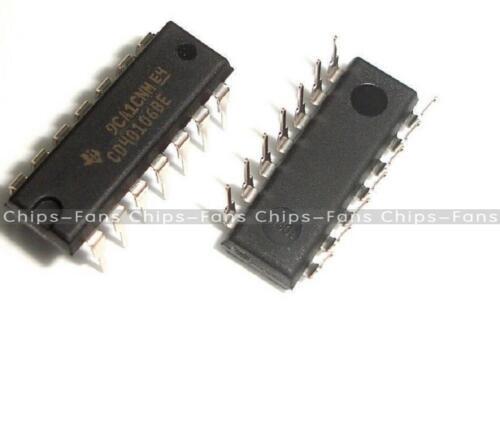 10Pcs CD40106 CD40106BE 40106 HEX SCHMITT TRIGGER IC CF