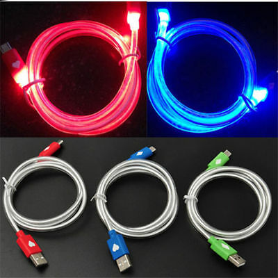 LED Visible Light USB Charging Cable Cord Data Sync Charger for Samsung Andorid