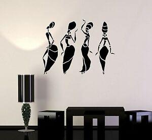 Vinyl Wall Decal African Women Dance Abstract Art Room