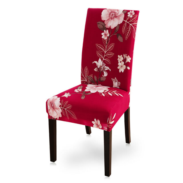 Home Removable Floral Dining Room Chair Covers Wedding Stretch Seat Cover New US