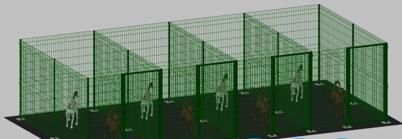 Hund käfig haustier welpenzaun 2x2m(x 4 box) laufgitter hundegitterbox (verde)