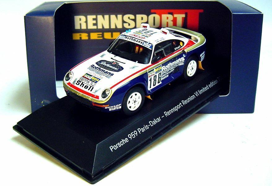 1 43 Spark Porsche 1986 959  186 Rennsport REUNION IV Laguna Seca Porsche Museum