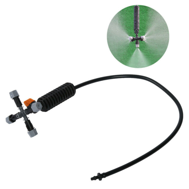 "Garden Sprinkler Irrigation Mist 5-head Nozzle Spray Fog 1//2 /"" Mounting Adapter"