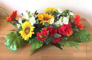 Details Zu Tischgestecktischdekoration Blumengesteck Hochzeit Taufe Sonnenblumen