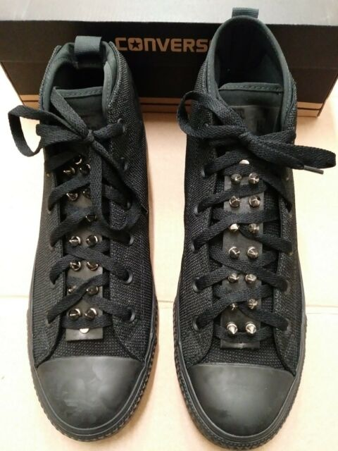 b67b1a54e94 Converse All Star CTAS SYDE Street Mid Triple Black SPIKED TONGUE