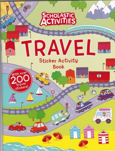 1 of 1 - Travel Sticker Activity Book - Stickers, Colouring and Doodling Activity Book