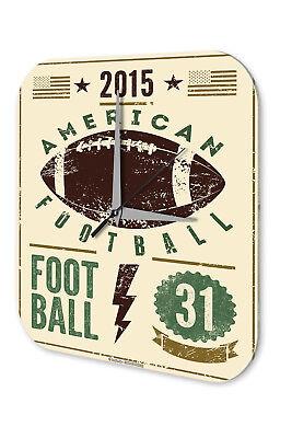 Apprensivo Orologio Da Parete Nostalgia American Football Acrilico Decorazione Vintage Retrò- Saldi Estivi Speciali