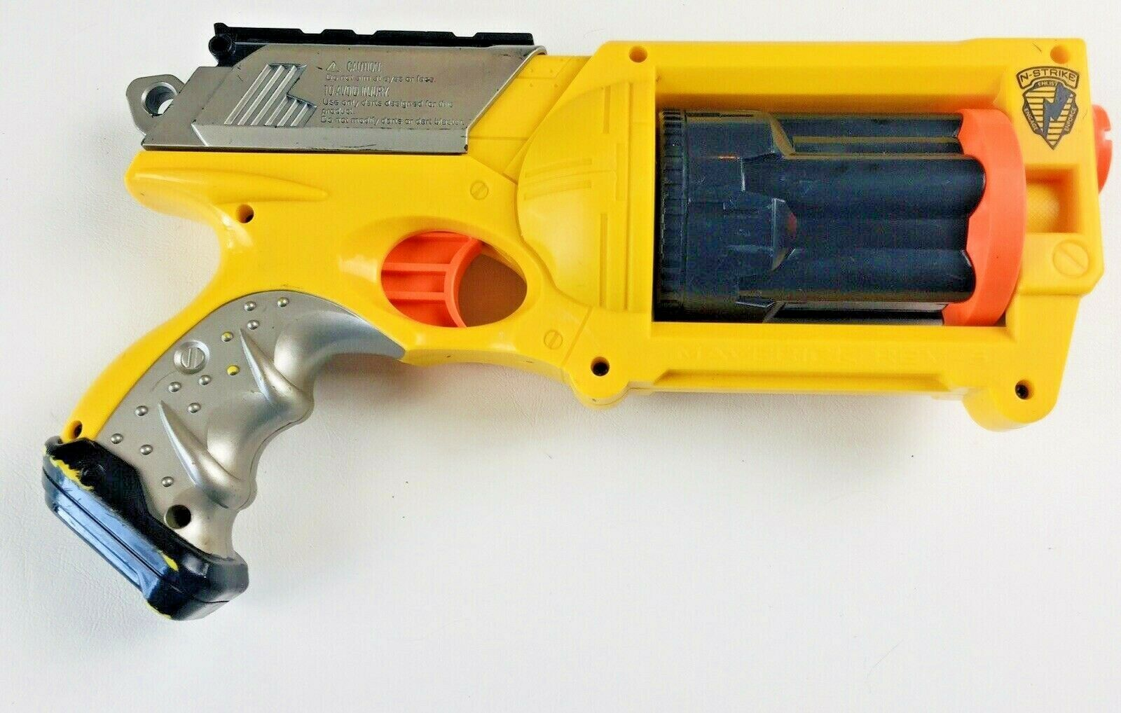 Nerf Gun Maverick REV 6 Blaster without darts Yellow Pre-owned EXCELLENT F50