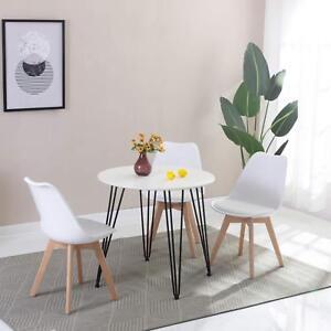 EGGREE tavolo da pranzo in MDF Rotondo Bianco,80 * 80 * 75 cm,Per ...
