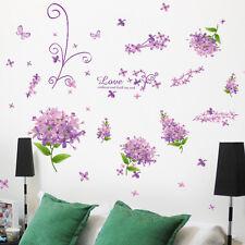 Romántico Flor Extraíble habitación Mural Artístico Pegatina Vinilo Pared