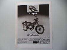 advertising Pubblicità 1975 MOTO AMF HARLEY DAVIDSON SS 250
