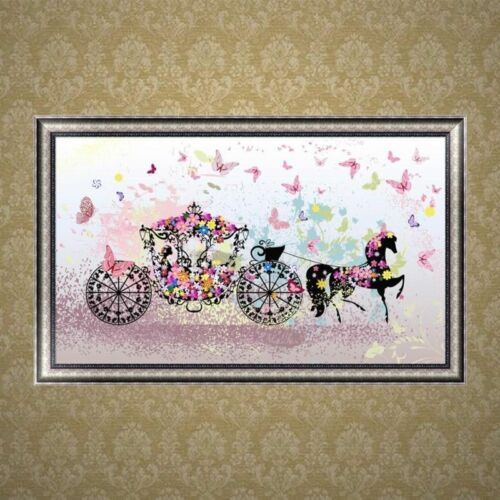 Carriage DIY 5D Diamond Painting Embroidery Cross Stitch Home Decor Craft Gift