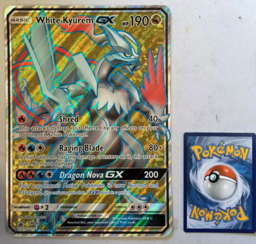 NEAR MINT Pokemon SM WHITE KYUREM GX #SM141 FULL ART JUMBO//OVERSIZED PROMO CARD