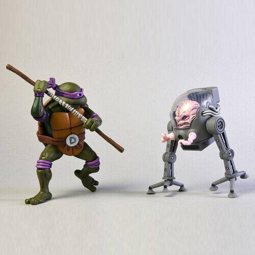 Tmnt Ninja Tortugas Donatello vs Krang en Bubble Walker Figura de Acción 2-Pack