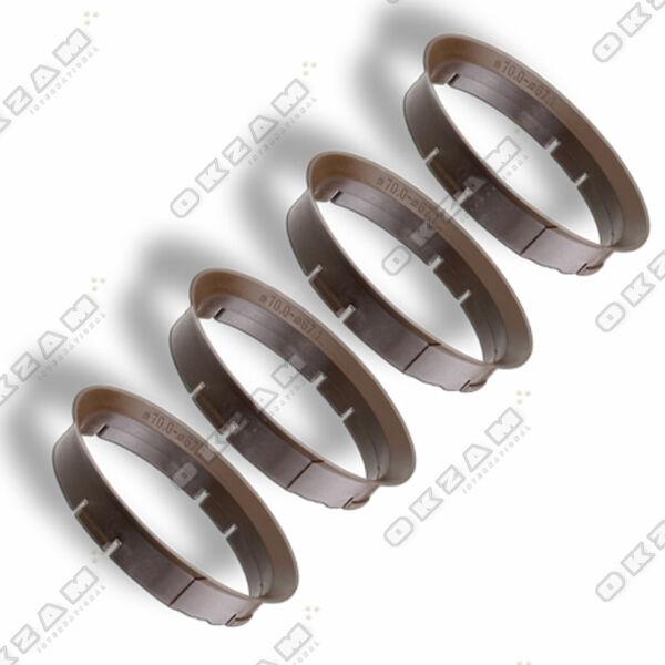 4 Ruote Cerchi Spessore Anelli Di Centraggio Per Alluminio Marrone - Ø 70.0 Mm -