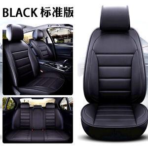 5D-Coche-Asiento-de-5-de-lujo-interior-completo-rodeado-de-Lujo-de-Cuero-negro-Cubiertas-De-Asiento
