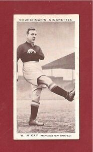 Manchester-United-FC-BILL-McKAY-MUFC-The-Reds-Bolton-Stockport-1938-photo-card