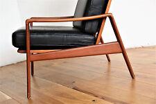 60er 70er cuero sillón confort arne elección iversen lounge chair Danish Teak