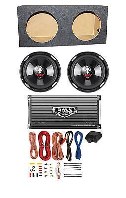 "2-Ch Amp Sealed Box 2 BOSS P106DVC 10/"" 4200W Car Subwoofers 8 Gauge Amp Kit"