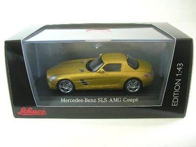 Brillante Mercedes-benz Sls Amg Coupè (oro Metallizzato) Vivace E Grande Nello Stile
