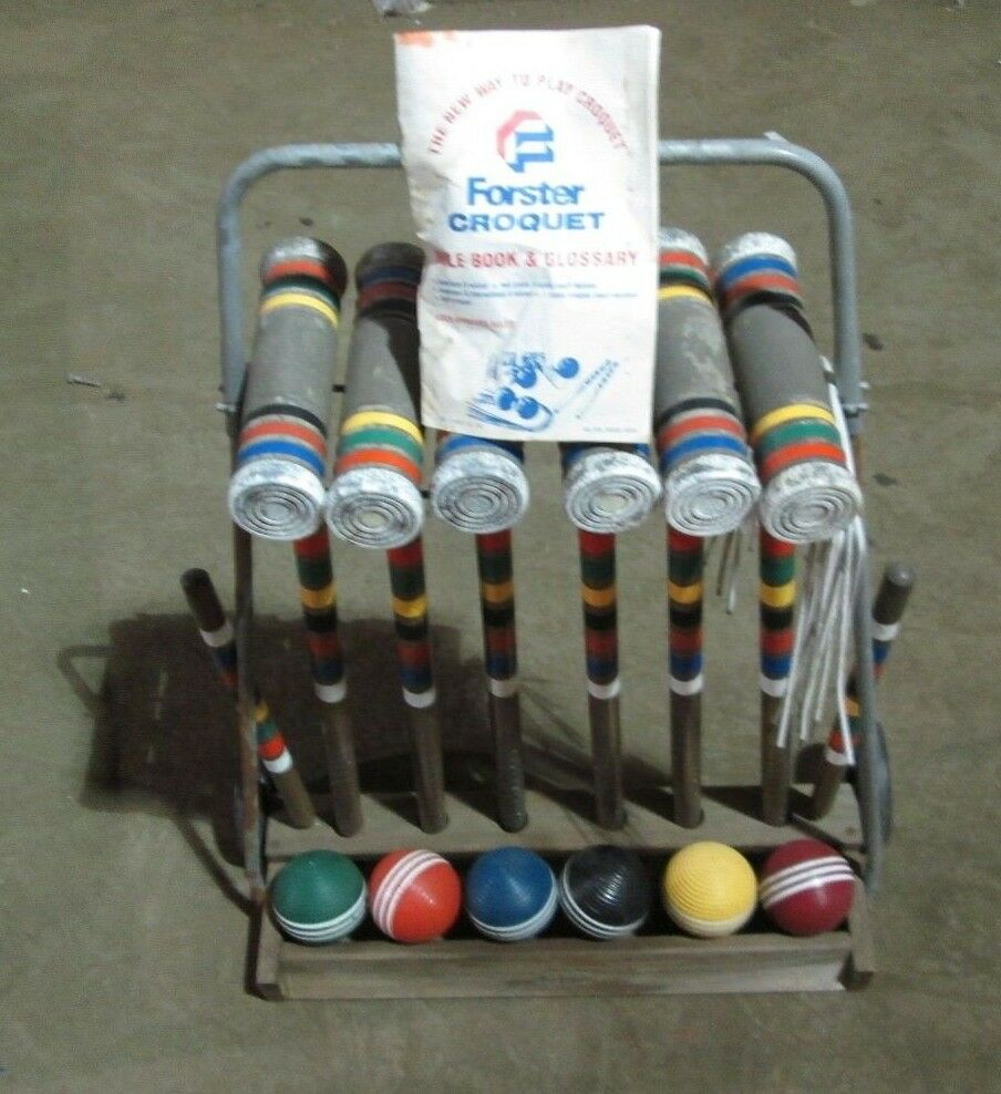 Croquet FORSTER Complete Set with Rule Guide