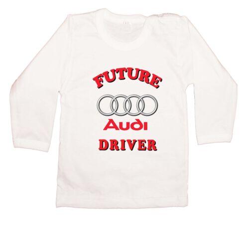 Future AUDI driver LOGO FUN  KURZARM//LANGARM BABY//KID//TODDLER T-Shirt