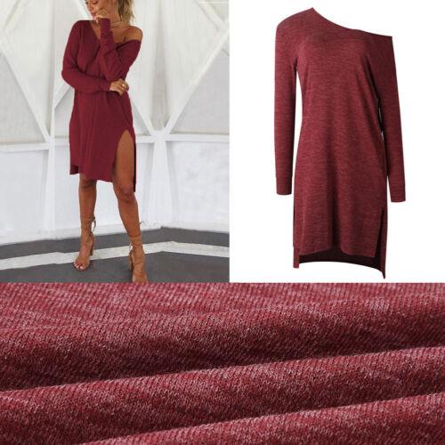 Womens Femmes tricotà le pull robe hiver Long Sleeve Top robe lÃche cavalier