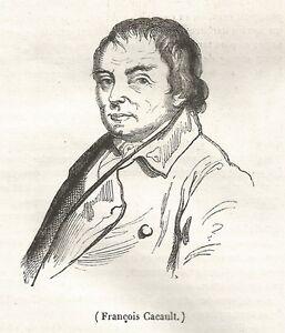 A5254 François Cacault - Xilografia - Stampa Antica Del 1842 - Engraving Achat SpéCial