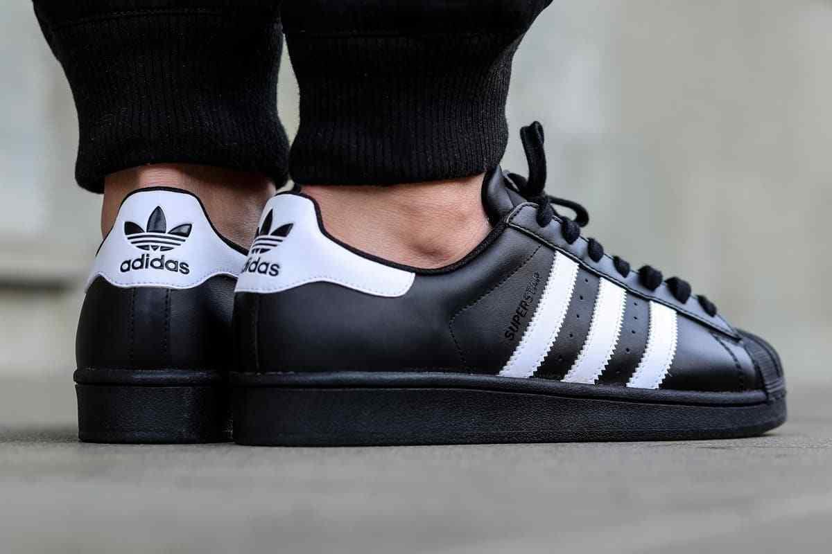 Mens Adidas Superstar Foundation OG UK Size 11 Black White Leather Trainers