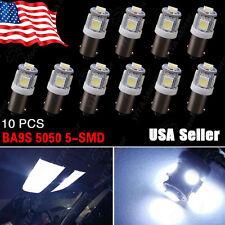 10 PCS Cool White 7000K T11 BA9S-5SMD 5050 LED Light bulbs T4W 12V H6W Q65B 3886