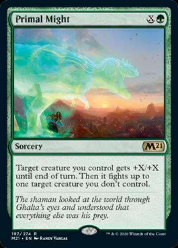Primal Might x4 Near Mint Normal English Magic Card Magic 2021 Core Set MTG TCG