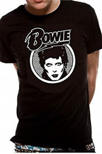 24b7c75d8c Official David Bowie - Diamond Dogs Logo - Men's Black T-Shirt | eBay