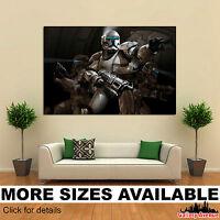 Wall Art Canvas Picture Print - Star Wars Clone Commando Game 3.2
