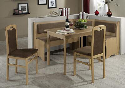 Eckbankgruppe Bozen 4 teilig Essgruppe Tischgruppe Eckbank Tisch Stühle Set | eBay
