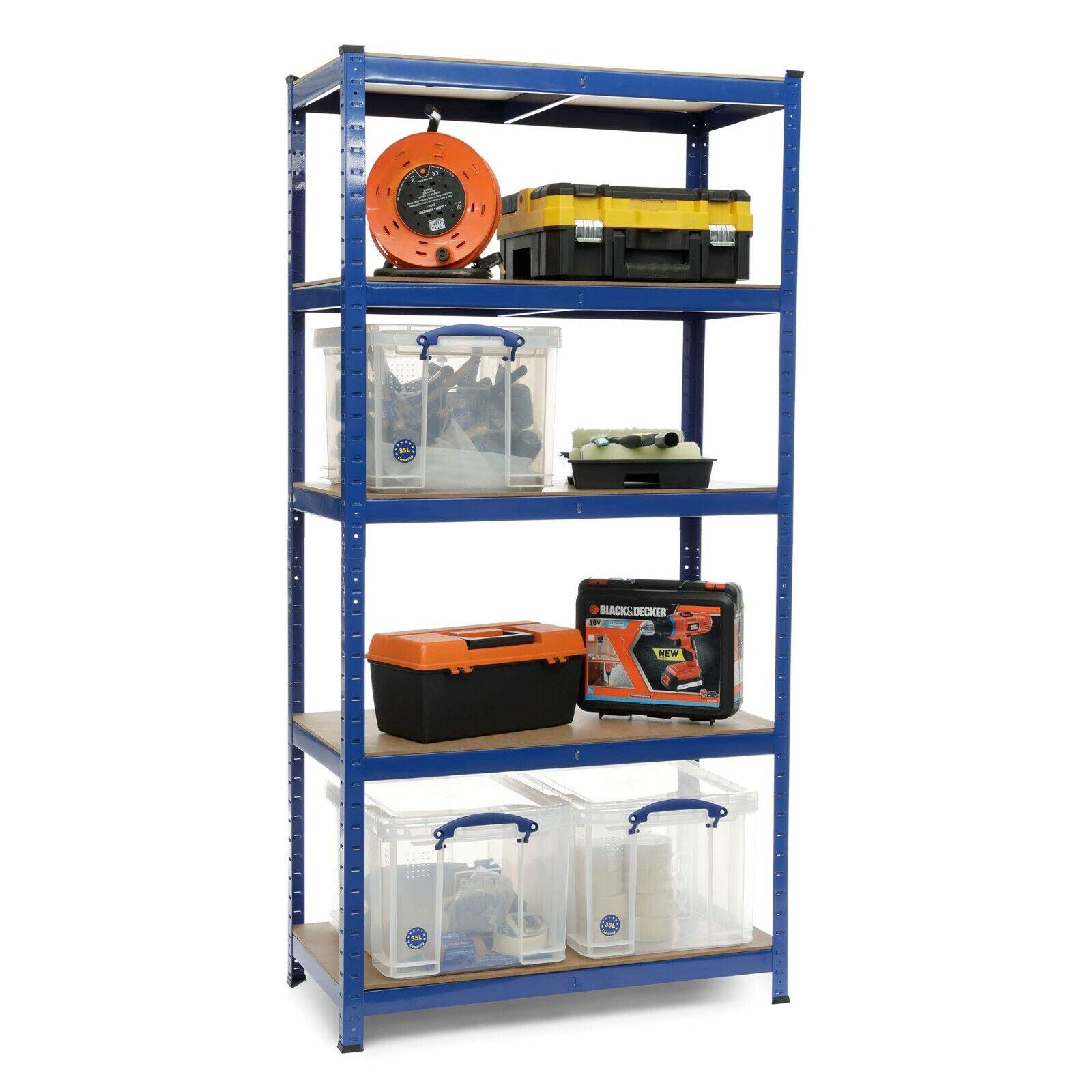 TETTOIA Garage MCD005 SCAFFALI SCAFFALATURE 5 livelli 1800mm H x 900mm W X 450mm D