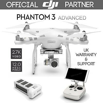 DJI Phantom 3 Advanced Quadcopter Drone with Built-in 1080p Full HD Video Camera