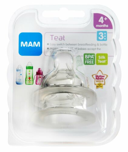 MAM Fast Flow Teats with SkinSoft Months Suitable for 4 MAM Teats Size 3